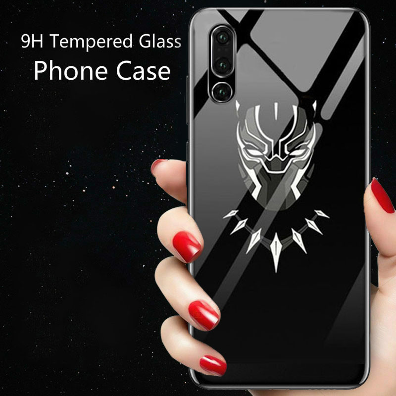 Image 2 - Coque Marvel Venom Luminous Glass Phone Case For Huawei P30 P20 Pro Lite P10 Plus Honor 10 9 9X 8X i Iron Man Batman Cover Funda-in Fitted Cases from Cellphones & Telecommunications