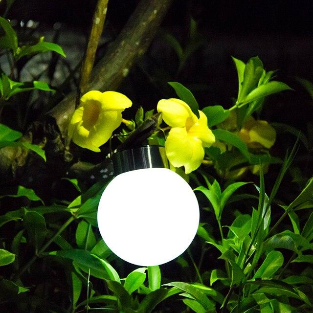 Décoration De jardin LED Solaire Lanternes Lumières de la Nuit En ...