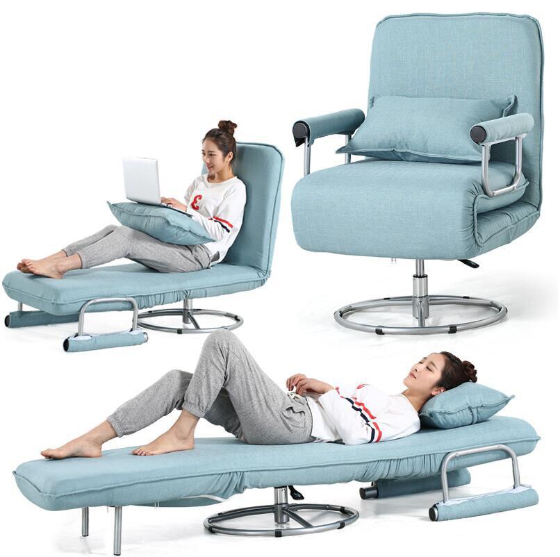Prezzo di fabbrica Multifunzionale Semplice Pieghevole divano Letto Sedia Da Ufficio Sedia Pieghevole soggiorno Reclinabile Sedia