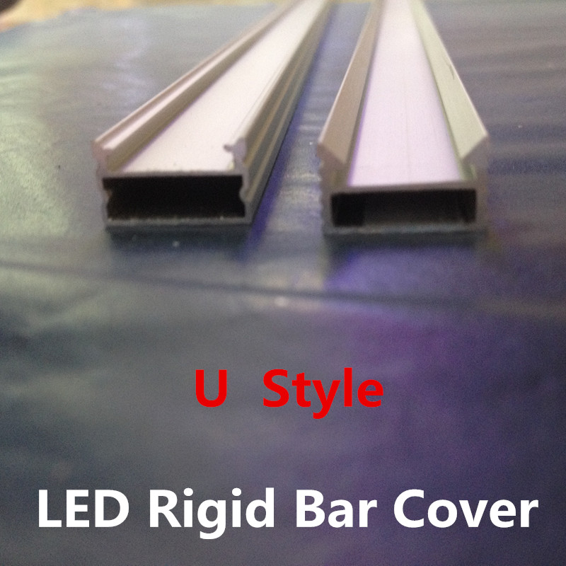 LED 2835 5050 5630 Strip Bar Light Cover Shell with U Style u-shaped shell aluminum slot dedicated jewelry counter X 300PCS