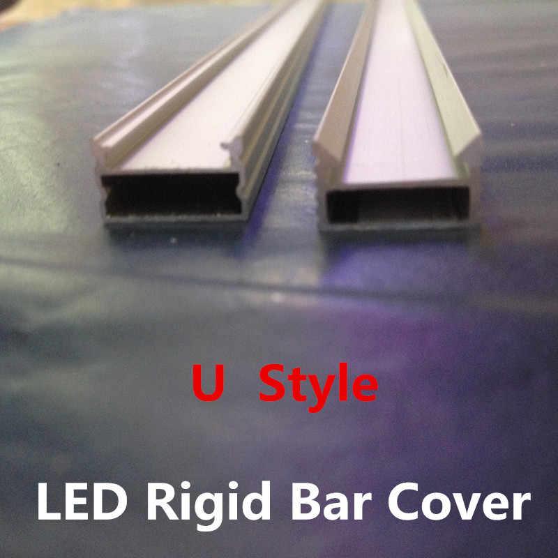 LED 2835 5050 5630 הרצועה בר אור כיסוי מעטפת עם חריץ U סגנון בצורת u מעטפת אלומיניום ייעודי דלפק תכשיטי X 300 יחידות