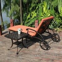 Горячий литой алюминиевый шезлонг портативный шезлонг для отдыха на открытом воздухе пляжный chiar садовый стул с боковым столом