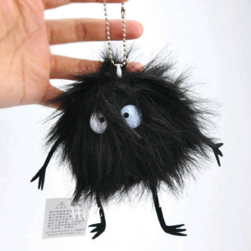 My Neighbor Totoro Soot Sprite Dust Bunny Plush Toy Dolls Pendant Keychain