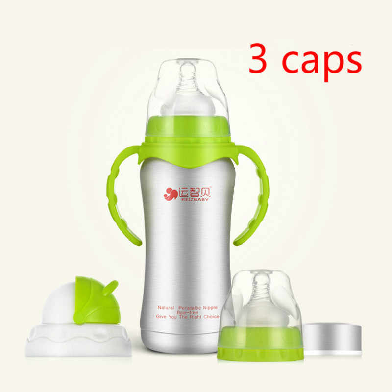 ebe78d014 ... 240ml Baby Bottles Thermos Stainless Steel Nursing Feeding milk Bottle  Water Bottle Newborn Bottles 3 In1 ...