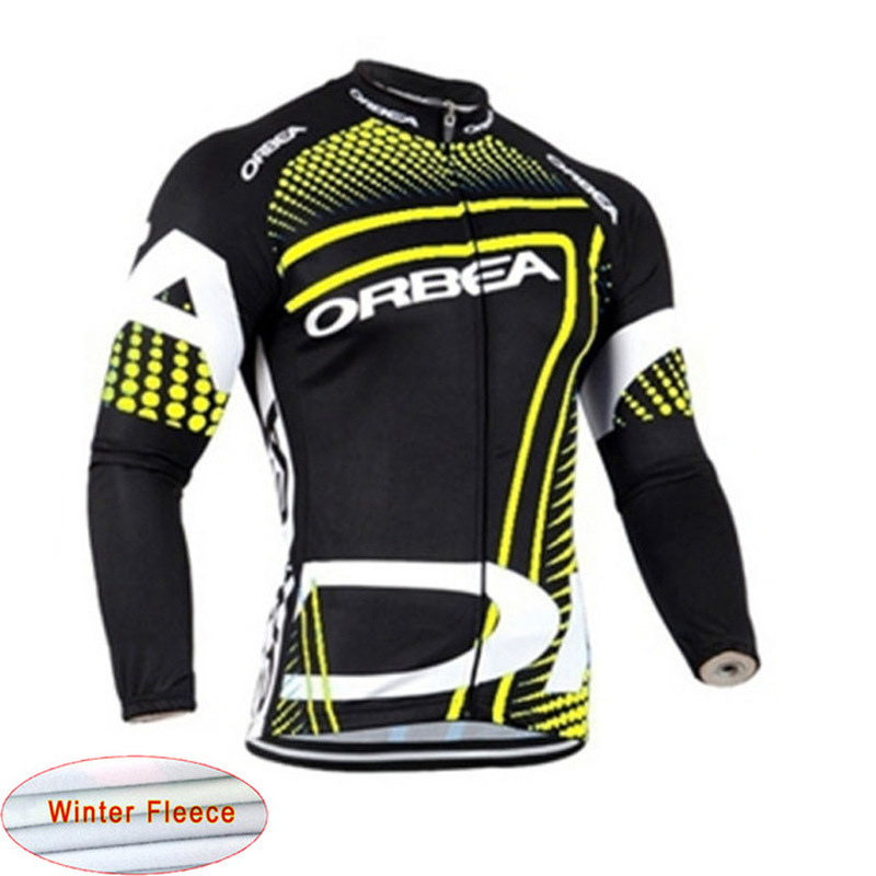 ORBEA2018 Riding Sweatshirt Winter Warm Wool Long Sleeve Maillot ciclismo mtb Riding Hoodie ropa ciclismo100% Polyester