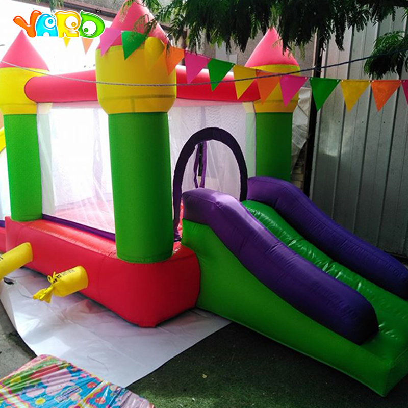 YARD Kids Best Gift Bouncy Castle Outdoor Trampoline Ball Pit Combo Inflatable Castle for Kids Games ...