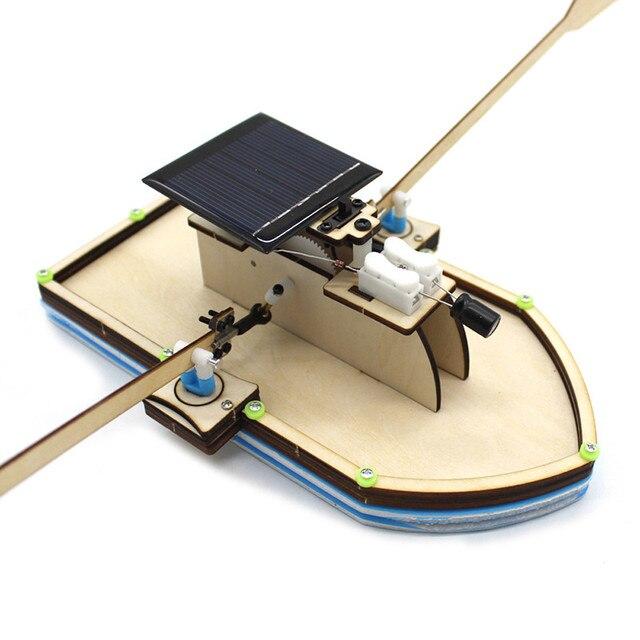 Juguetes infantiles para niños niñas energía solar coche robot kiti Barco de energía Solar DIY modelo Robot barco rompecabezas Kit de juguete educativo