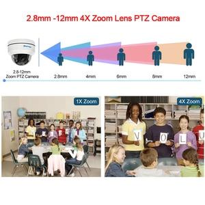 Image 3 - Techage 1080P 4X Zoom PTZ POE IP Camera Mini Speed Dome Âm Thanh Chống Nước 2MP Camera Quan Sát An Ninh P2P Onvif video POE Giám Sát
