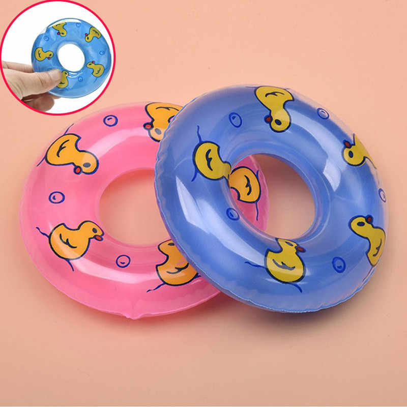 1Pcs New Cute Mini Swimming Buoy Lifebelt Ring For Doll Accessories baby born doll accessories Baby Toys best Gift 2 Colors