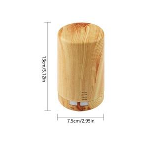 Image 2 - Automatic Aroma Diffuser + Humidifier + Night Light 3 in 1 Ultrasound Mini Silent Wood Grain Aromatherapy Machine Humidifier
