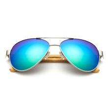 2017 New handmade bamboo legs sunglasses natural bamboo legs men glasses women frogs metal glasses