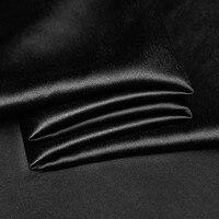 19mm Sand Gewaschen Seidensatin 100% naturseide 140 cm breite schwarz navy silber farben 91 gsm 32 meter für probe prüfung