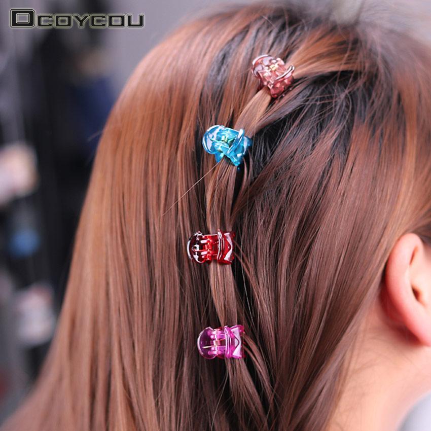 12PCS Mix Color Small Cute Plastic 6 Hair Claws Hair Clip Girls Fashion Headdress Hair Ornament Hair Accessories
