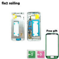 New Battery Door Middle Housing Cover Partition Replacement For Samsung Galaxy S7 G930 G930F Black White