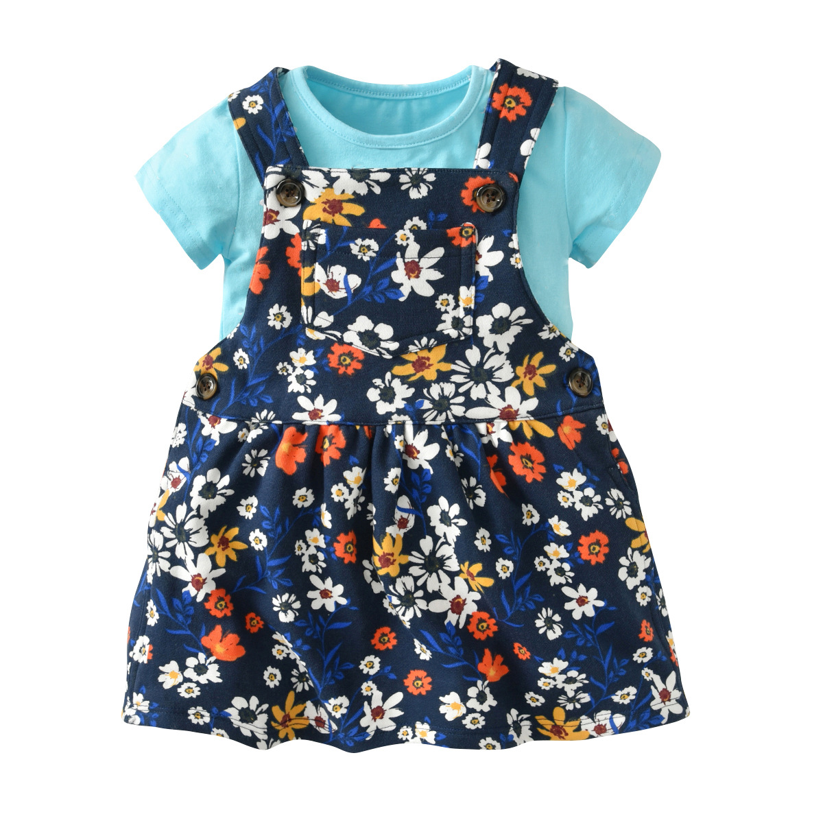 2018 New Baby Girls Summer Sets Coat + Skirt Short Sleeved Clothes Newborn Outwear Suit Infant Dresses 2 Pcs Baby Sets For Girl