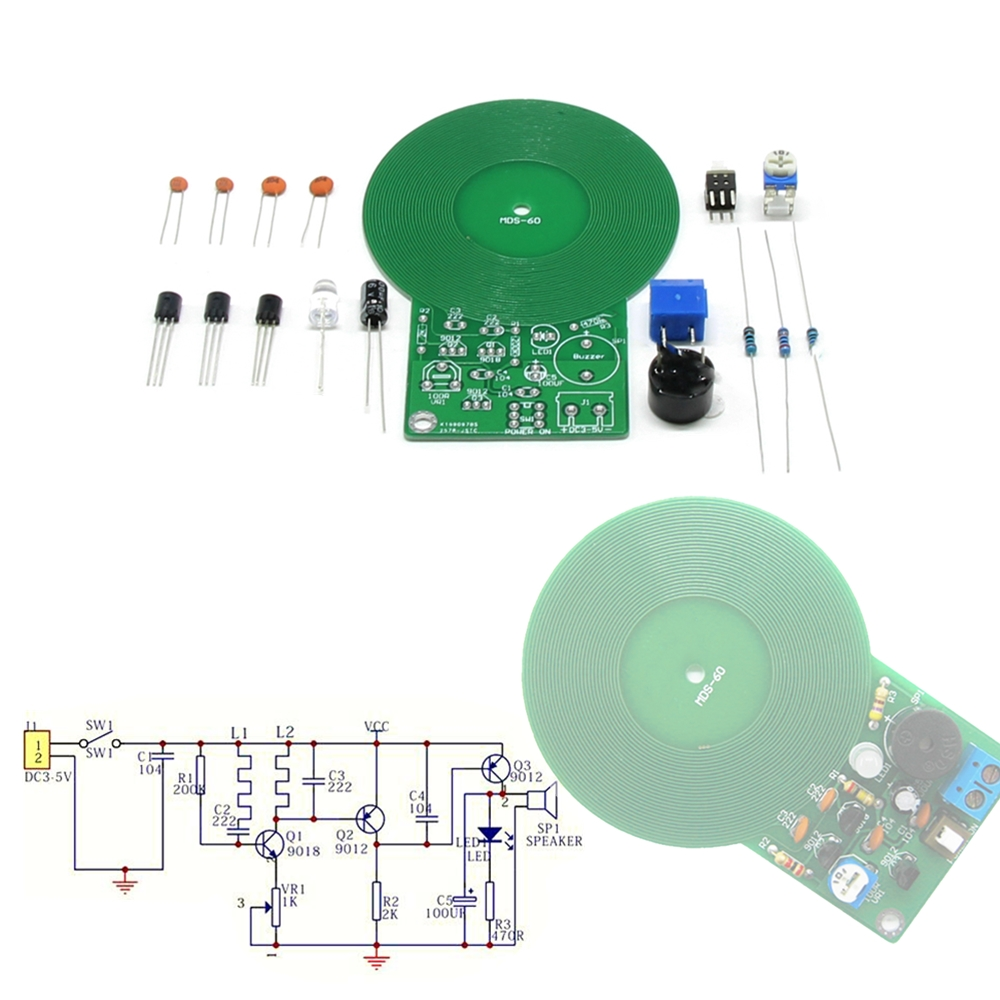 Diy Kits Metal Detector Scanner Unassembled Kit Electroniqu Project How To Build A Circuit Dc 3v 5v Electronic 60mm Non Contact Sensor Board Module