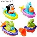 Cielarko juguete del baño del bebé animal encantador play agua tire cadena pingüino de juguete barcos para los niños inspire la imaginación lyj024