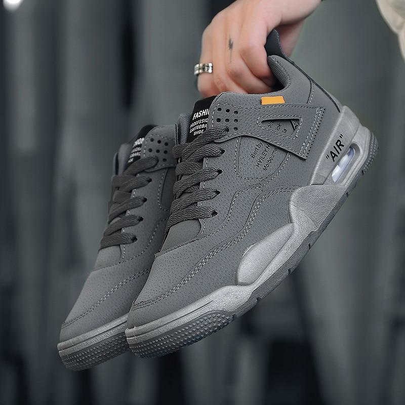 Aire Calle Zapatos Deporte hop Redonda Punta gris Carta Goma La plataforma  Hip Impresión Cojín Encaje Grueso Zapatillas De blanco Hombre Negro ... 40906f03112