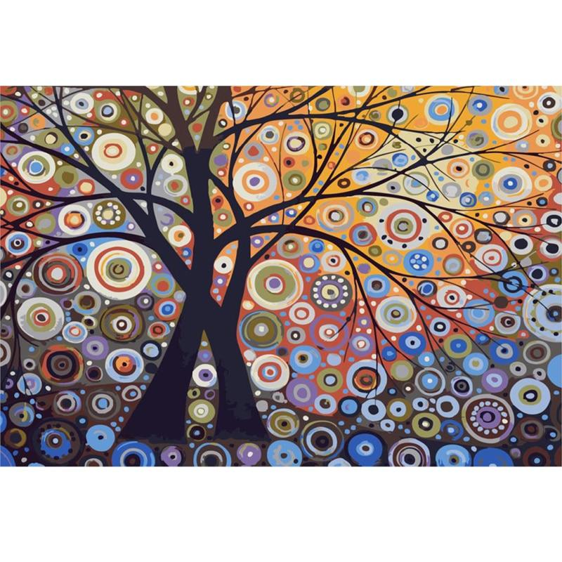 Acquista all'ingrosso online tree of life dipinti ad olio su tela ...