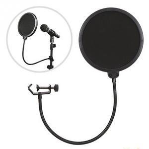 Image 2 - Микрофонный фильтр для пения щиток для ветрового стекла Pod литой, двойной двухслойный анти микрофонный металлический студийный фильтр