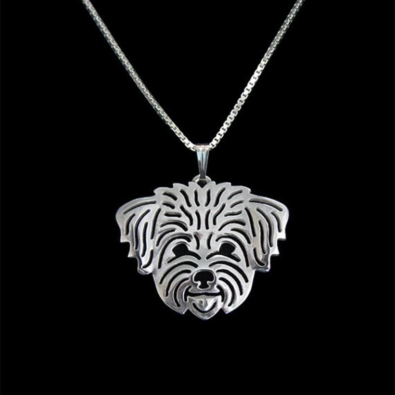 Gold Silver ColorShih-Tzu (in puppy/pet haircut) Pendant Necklace Hunger Games Necklace Women Best Friend Choker 10pcs/lot
