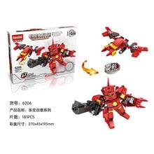 HSANHE 6206 Creative Series Mech Warrior Gundam Project Educational Diamond Bricks Minifigures Building Block Toys Gift