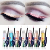 7 Pçs/lote HUAMIANLI 7 Cores Brilhantes Glitter Shimmer Lápis de Longa Duração Delineador Líquido Eye Liner Make Up Cosméticos