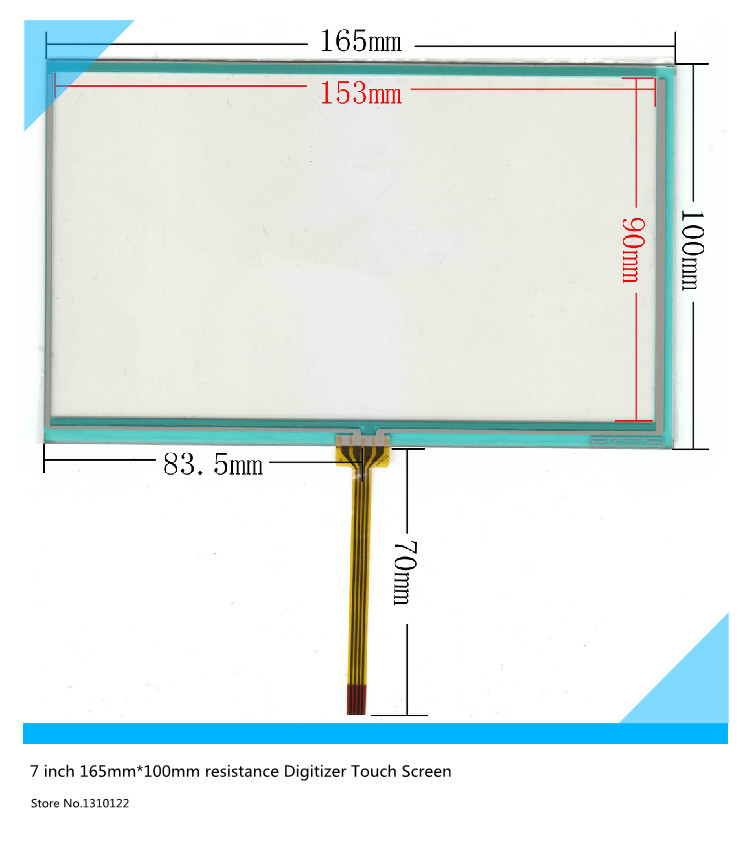 New 7 inch 165mm*100mm Resistive Touch Screen Digitizer for siemens 700:6AV6 648-0AC11-3AX0 touch panel glass free shipping