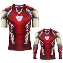 Iron Man T-shirt Cosplay Avengers Endgame MK85 Costume 3D 4 Tony Stark T shirts Sport Tight Tees Clothing