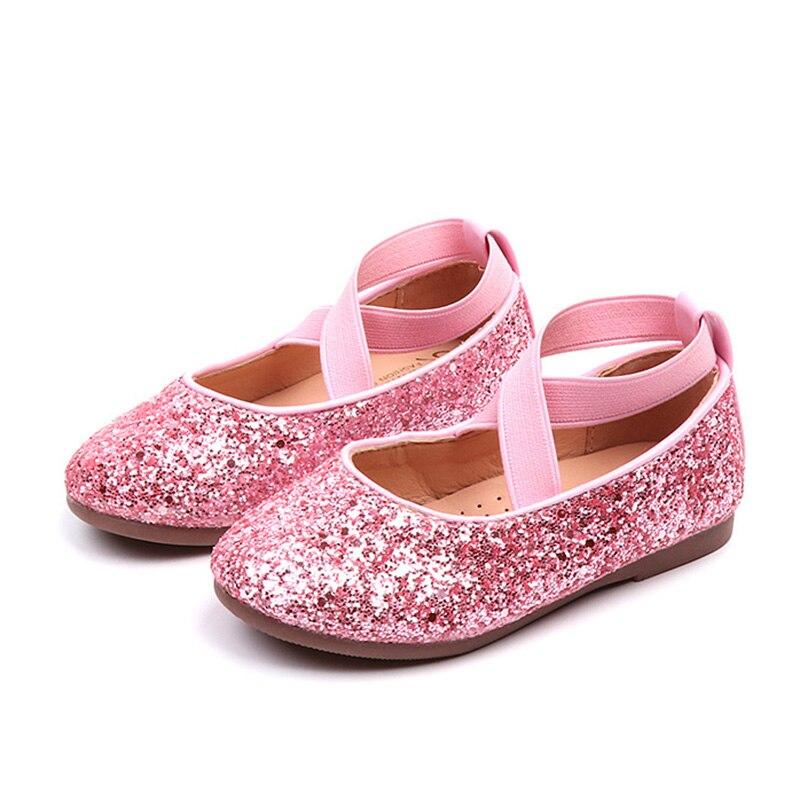 Girls Sparkly Glitter Ballet Flats 2