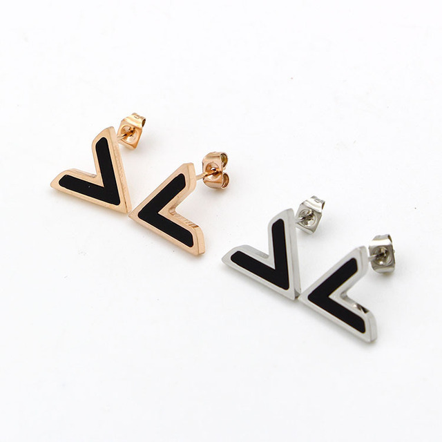 mi gold post stud letter studs initial earrings rose handmade alphabet wr