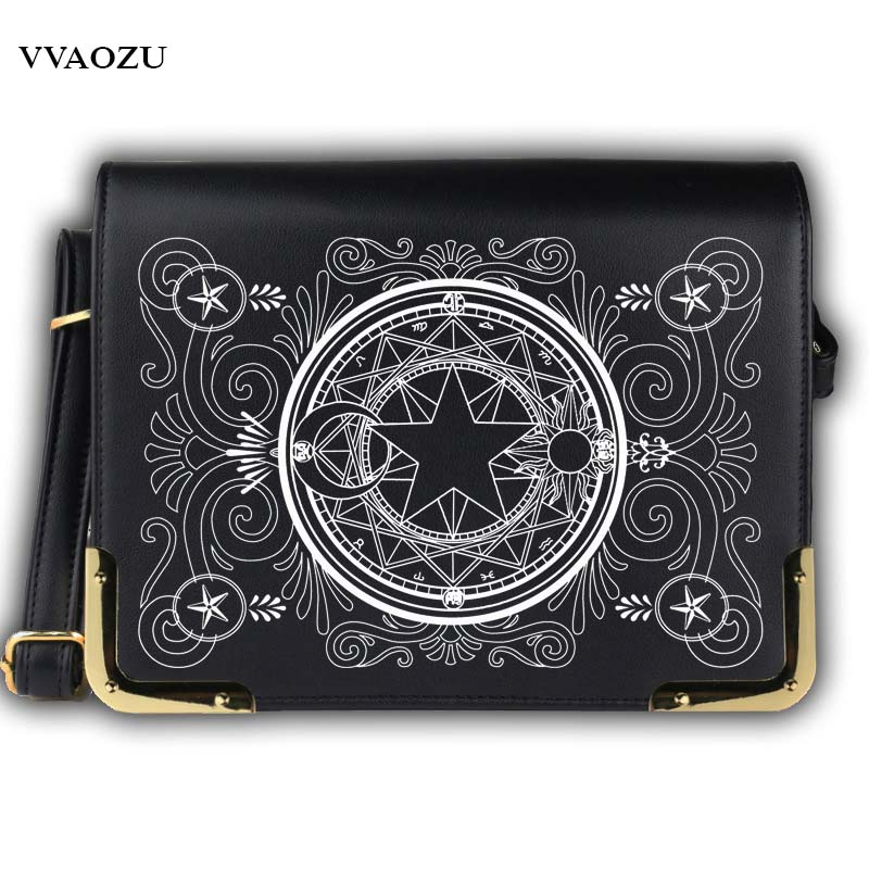 New Japan Anime Card Captor Sakura Cosplay Messenger Bag Cartoon Unisex Lolita PU Shoulder School Crossbody Bags Satchels Gift
