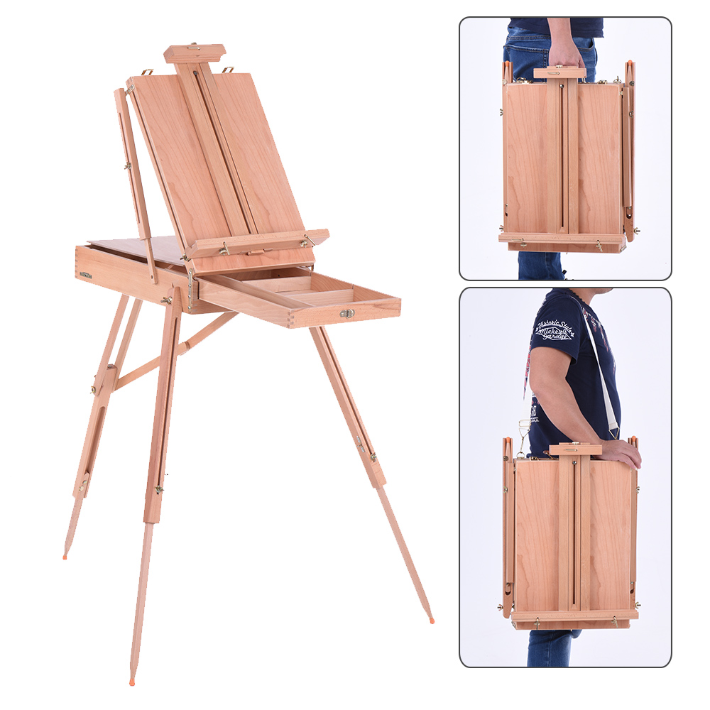 Professional Folding Art Artist Wood Wooden Easel Paint Sketch Drawing Box Tripod Stand for Oil Painting
