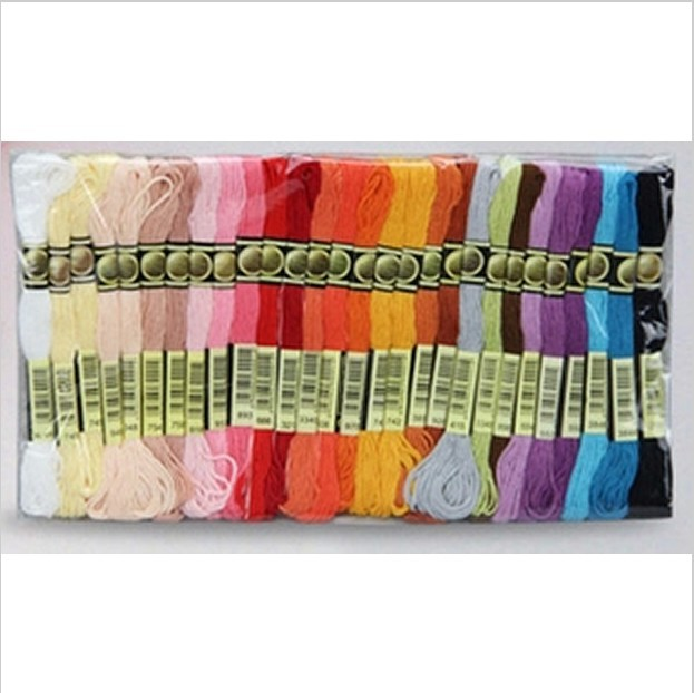 Discount Shop Similar DMC 1Lot=200 Pieces Free Shipping Cross Stitch Embroidery Thread Floss 8 Meter Length 6 Strands
