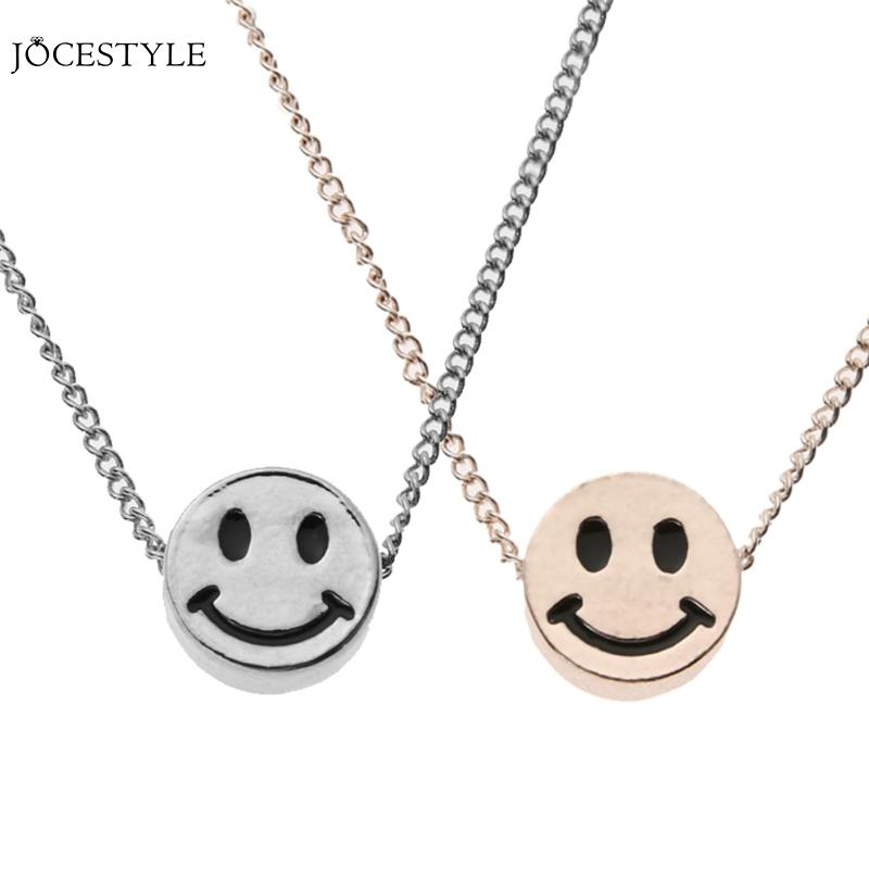 2017 Fashion Pendant Cute Short Smile Expression Smile Necklace Alloy Necklace Lovers Jewelry Gift