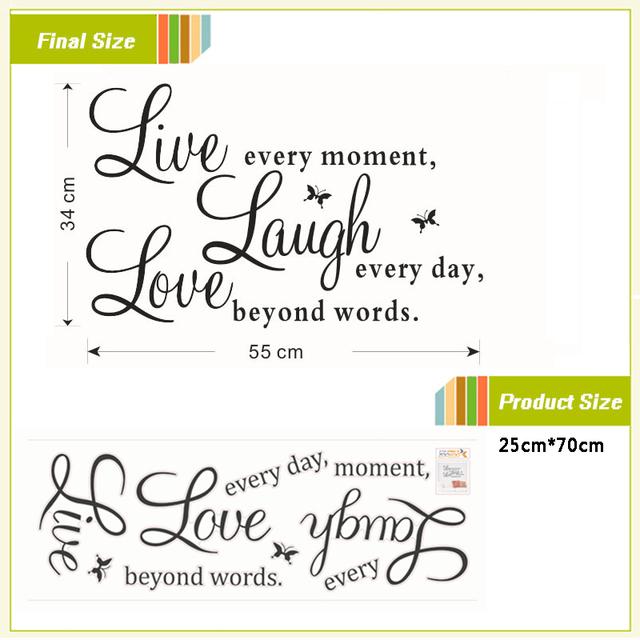 Live Laugh Love Quote Sticker