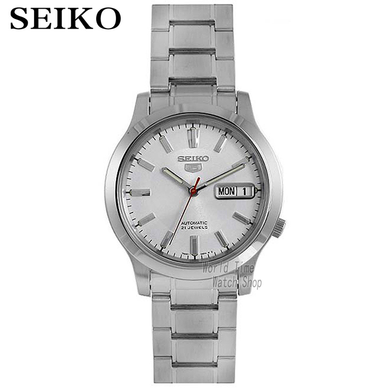 лучшая цена SEIKO Watch Shield 5 Business Double Calendar Strip Automatic Mechanical Male Watch SNXF11K1 SNK789K1