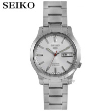 SEIKO Watch Shield 5 Business Double Calendar Strip Automatic Mechanical Male Watch SNXF11K1 ik colouring gold steel strip calendar automatic mechanical watch vintage mens watch male casual watch