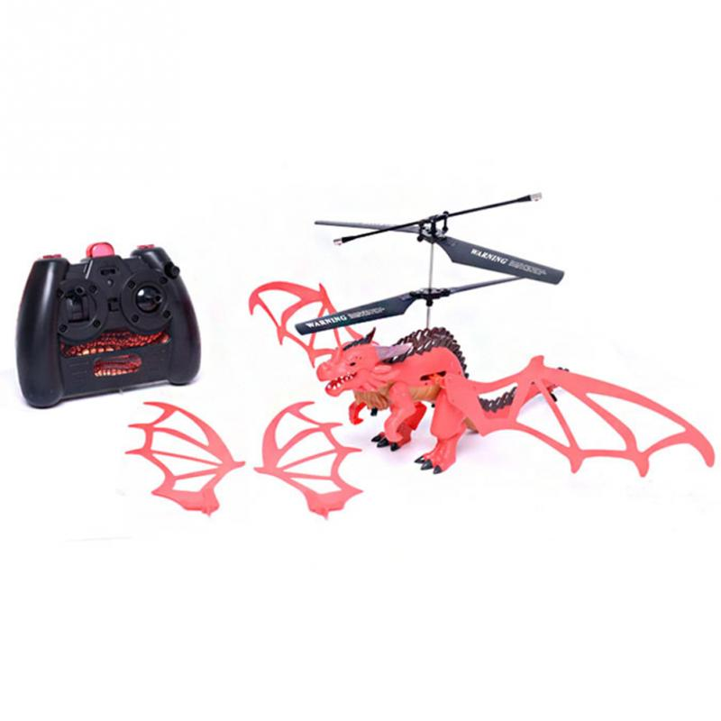 28.5X41X19.3CM Remote Control Dinosaur Helicopter Flying Dinosaur Mini RC Drone <font><b>Toys</b></font> Children Gift Red