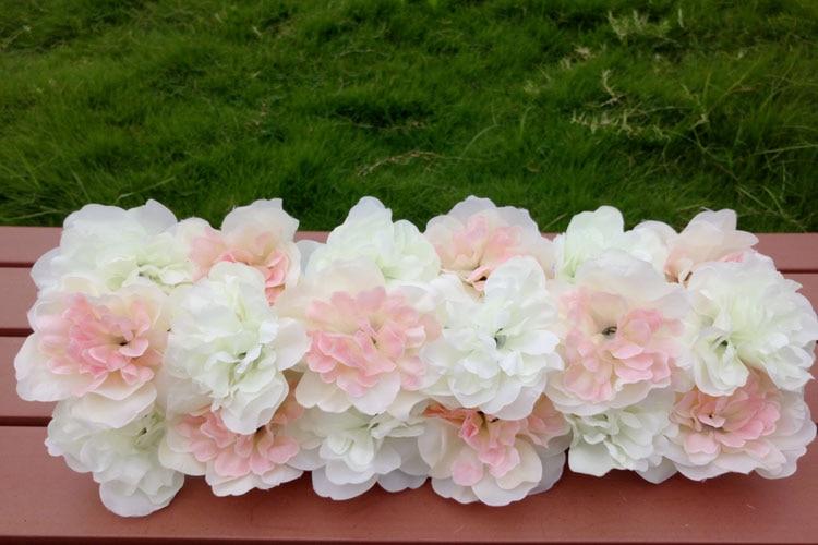 Lažni cvijeće red Arch cvijet vjenčanja dekoracija Stage party - Za blagdane i zabave - Foto 5
