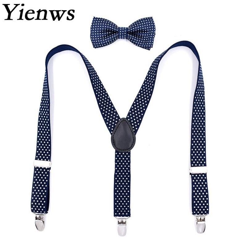 987e87fd9b0 Detail Feedback Questions about Yienws Bow Tie Suspenders for Boys Vintage Navy  Dot Strap Braces Boy 3 Clip Button Suspensorio Bretelle Enfant Garcon  YiA048 ...