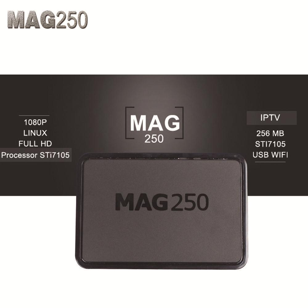 Iptv Set Top Box Mag 250 Linux System IPTV Box Mag 250 Support Wifi usb Connector