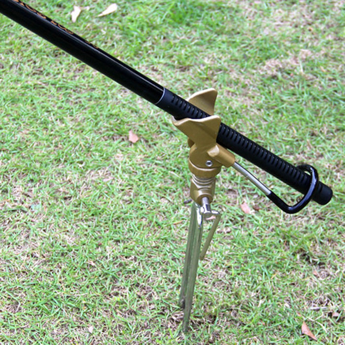 stand support fishing rod rod tackle plug in ground
