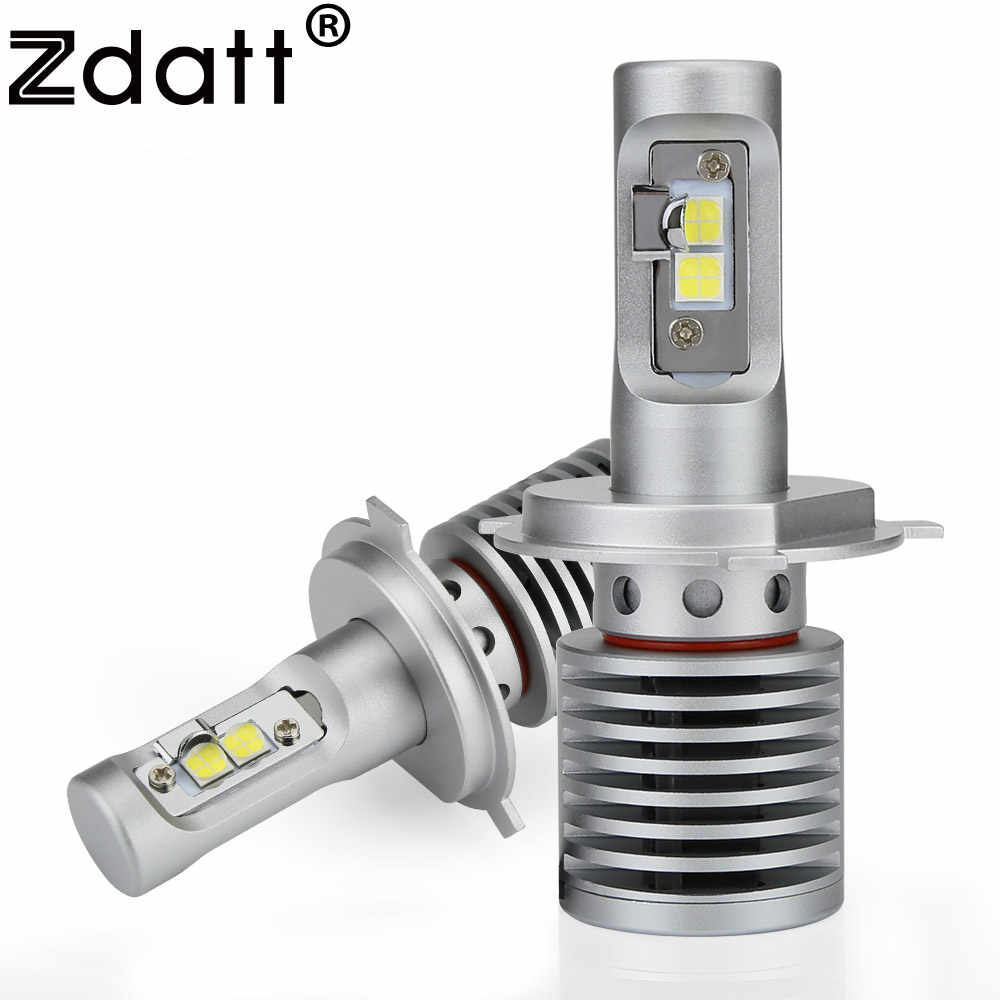 Zdatt Car Light H4 H7 Led H11 9003 9005 9006 Headlights Bulb Super Bright 14600Lm 6000K 100W 12V LED Automobiles Motorcycle