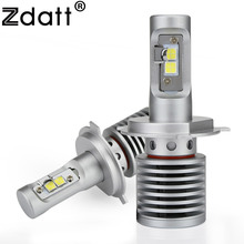 цена на Zdatt Car Light H7 Led H4 H11 9003 9005 9006 LED bulbs for cars Super Bright 14600Lm 6000K 100W 12V LED Automobiles Motorcycle