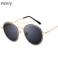 Новый Круглый Черепаха Солнцезащитные очки для женщин в стиле ретро Очки Для женщин Мода Солнцезащитные очки для женщин двойной переносице...