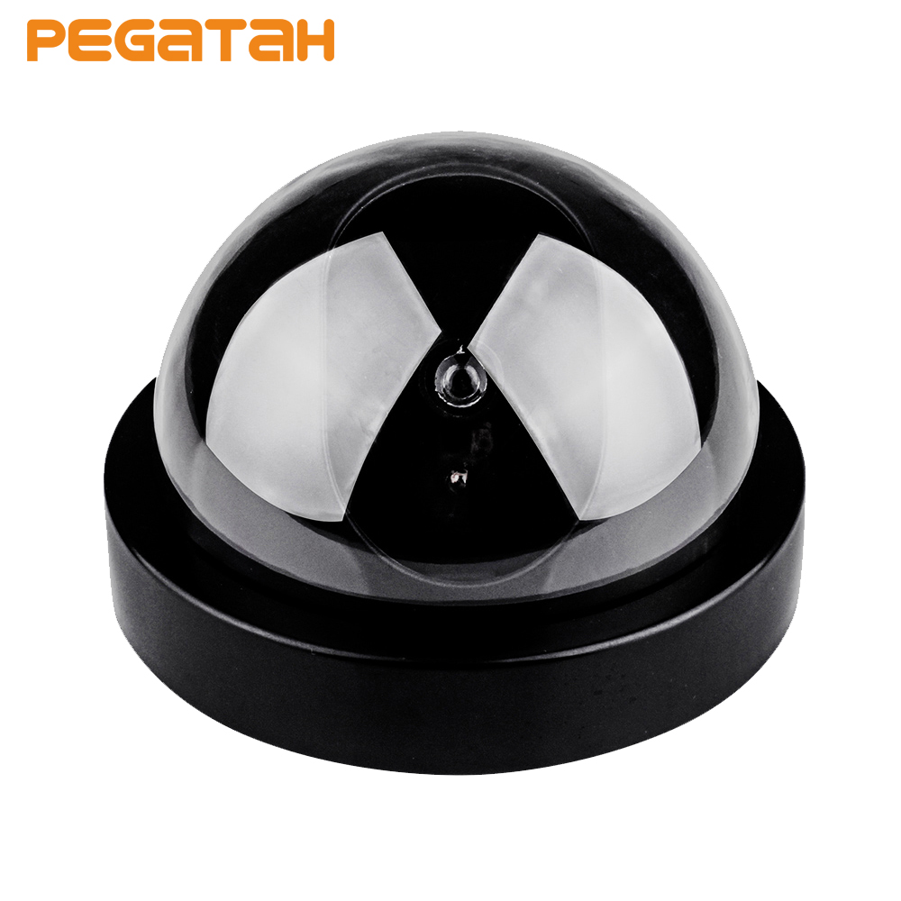 Outdoor / Indoor Video Surveillance Fake Camera Home Dome Dummy Camera With Flashing Red LED Light CCTV Security Cameras