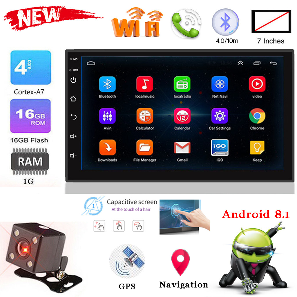Driving-Recorder Rear-Camera Android-Navigator Car-Stereo 7inch FM HD Mp5-Player Reversing-Image