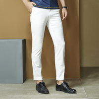 Anbican Fashion 2019 Summer Lightweight Mens Chino Pants Slim Long Trousers Male Chinos Wedding Party Straight Casual Pants