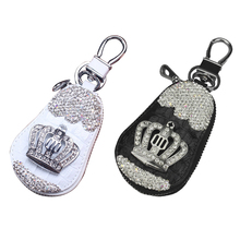Car Key Interior Products Crown with Rhinestone Diamond Remote Control Bag Set for Ladies 2019 New